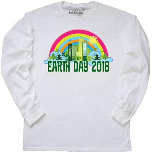 inktastic 2018 Earth Day Conservation Long Sleeve T-Shirt Small White 2e1b5