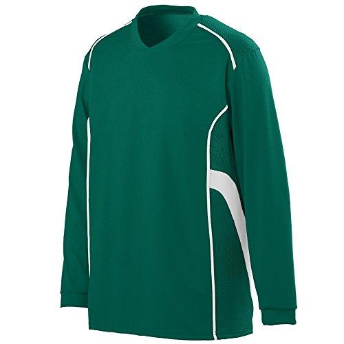 (Augusta Sportswear MEN'S WINNING STREAK LONG SLEEVE JERSEY XL Dark Green/White)