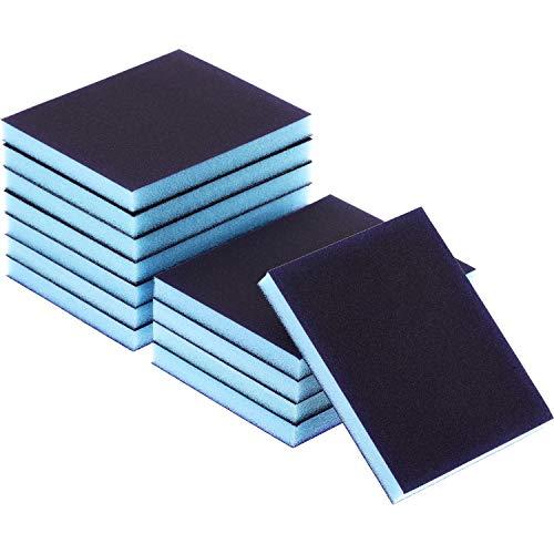 eBoot Sanding Sponge Grit Sanding Blocks, Washable and Reusable Sand Sponge Kit, 12 Pieces (Fine Grade)