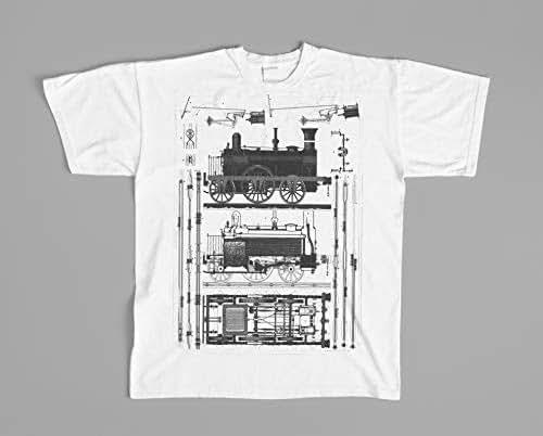 Amazon com: Boys t-shirt steam locomotive, Kids vintage