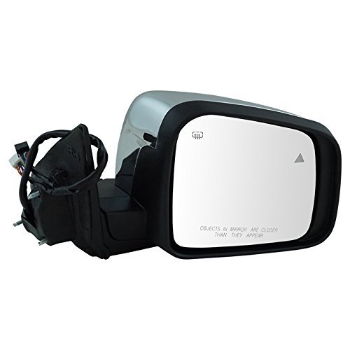 Mirror Power Heated Signal Memory Blind Spot Chrome Right RH for Durango