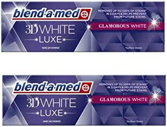 2x Blend A Med 3D White Luxe GLAMOROUS White Whitening Toothpaste