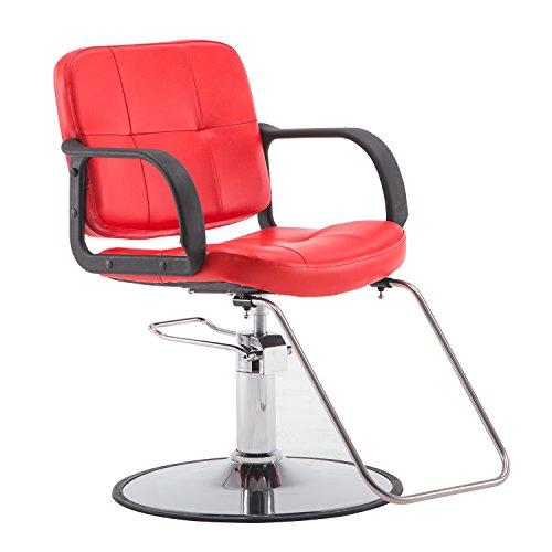 BarberPub Classic Hydraulic Barber Chair Salon Beauty Spa Styling Chair 8837 (Red)