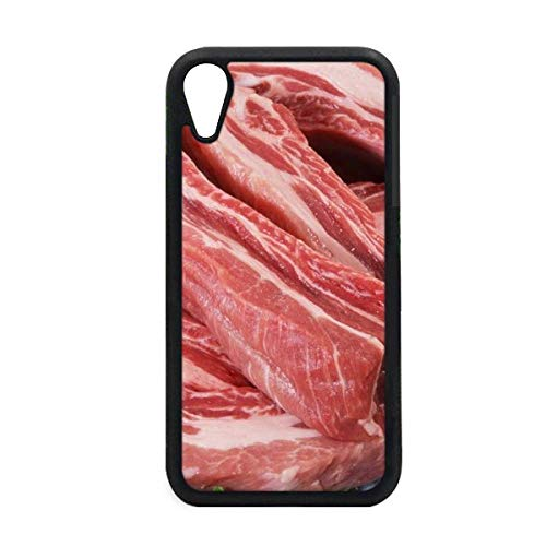 - Rib Chop Raw Meat Food Texture iPhone XR iPhonecase Cover Apple Phone Case