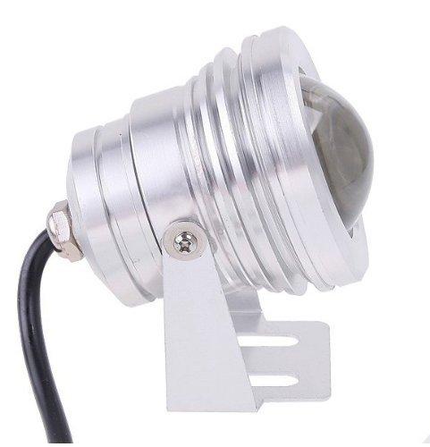 Qich® Powered Led Flood Wash underwater Light Outdoor Lamp Bulb Ip65 Waterproof 10W 12V 6000~6500K white 900 Lumen warm white
