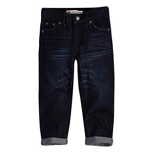 (Levi's Boys' Toddler 502 Regular Fit Taper Jeans, Penalty, 3T)