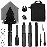 Search : Portable Folding Shovel Pickax with Tactical Waist Pack All-in-1 Surplus Military Multitool Tactical Spade for Outdoor Camping Hiking Backpacking Entrenching Garden Tool Car Emergency 38 inch Length