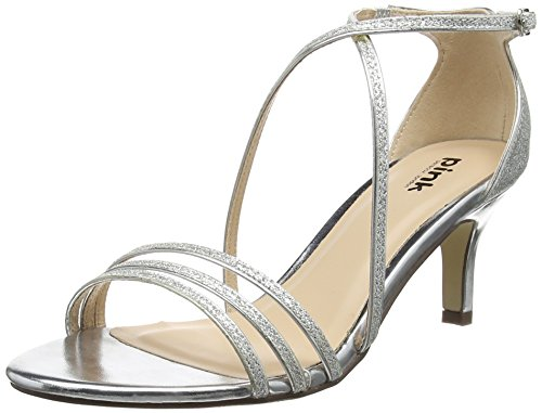 Silver Ankle Women's Sandals London by Paradox Pink Silver Strap of Isla qpywPSxx4g