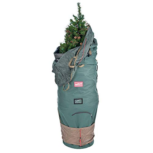 TreeKeeper [Upright Tree Storage Bag] - 9 Foot Christmas Tree Storage Bag | Hold Your Artificial Trees up to 9 Feet Tall -  Keep Your Fake Tree Assembled | Hides Under Tree Skirt (9' - Large) (Best Way To Store Artificial Christmas Tree)