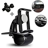 KMMOTORS Universal 360 Degree Car Smartphone Mount with Various Install Manage Car Mount Holder Cradle Compatible with iPhone X 8 8 Plus 7 7 Plus SE 6s 6s Plus Samsung Galaxy S9 S8 S7 LG etc