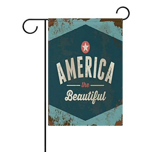 Brownnrio American Patriotic Vintage Personalized Garden Fla