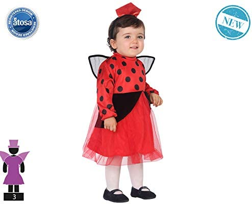 Atosa-61354 Atosa-61354-Disfraz Mariquita-Bebé + 24 Meses-Niña ...