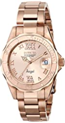 Invicta Women's 14398 Angel Analog Swiss-Quartz Rose Gold Watch
