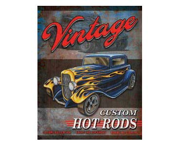 Vintage Custom Hot Rod Garage Rat Rods Gas Vintage Retro Wall Decor Metal Plate Sign TSC183