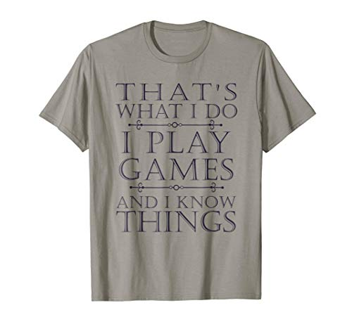 e T-Shirt Funny Video Games Gift Top Tee ()