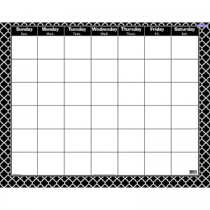 Trend Enterprises T-27023BN Moroccan Black Wipe Off Calendar Monthly - 6 Each
