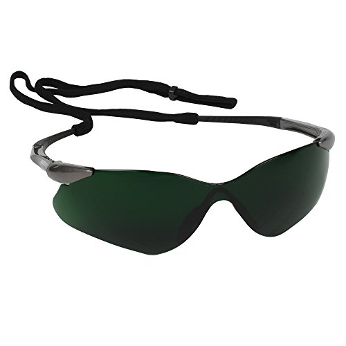 KLEENGUARD Nemesis VL Safety Glasses (20473), Sporty Frameless Design, UV Protection, Scratch Resistant, IRUV Shade 5.0 Lens with Gunmetal Temples, 12 Pairs / Case