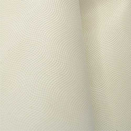 The Leather Guy - Low Grade Leather Calf Hide 13 SqFt Tablecloth Off White 1 1/2 oz Embossed - C ()