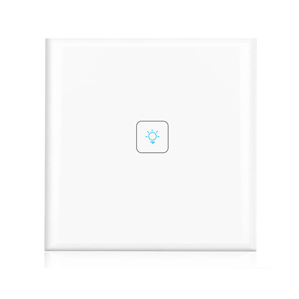 WiFi Smart Light Switch Wall Timer Wireless Remote Control, Compartible with Alexa and Google Home, IFTTT, 2 Gang, App Controlled, Neutral Wire Required, No Hub Required(Switch -2 Gang) leruiyi