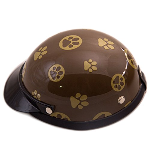 Helmet for Dogs, Cats and All Small Pets, Pet Accessory - Gold Paw for small dogs 5-10 lbs.