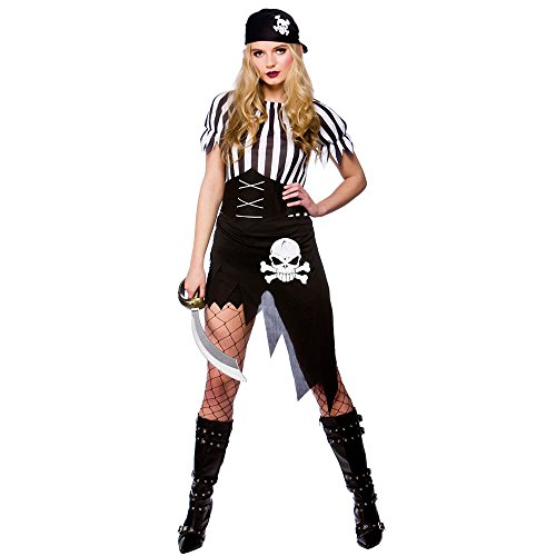 Ladies Shipwrecked Pirate Costume for Sailor Navy Pirate