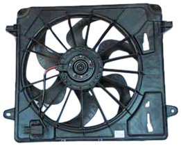 TYC 621680 Jeep Wrangler Replacement Radiator/Condenser Cooling Fan Assembly ()