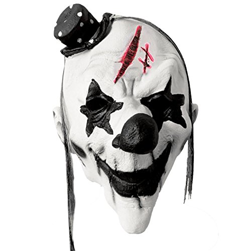 Halloween Latex Scary Disgusted Clown Evil Mask Costume Halloween Full Face Party (Evil Clown Latex)