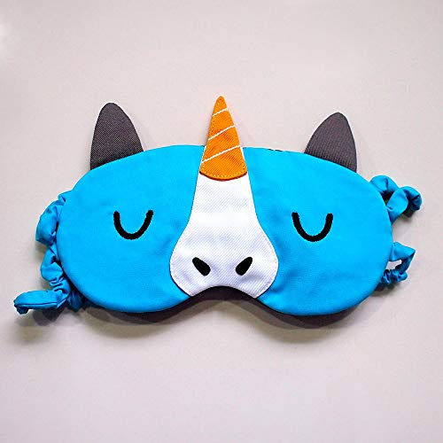 Bubbles The Unicorn Sleeping Eye Mask (Yellow Alicorn Horn) Eye Shade Blindfold Travel Napping