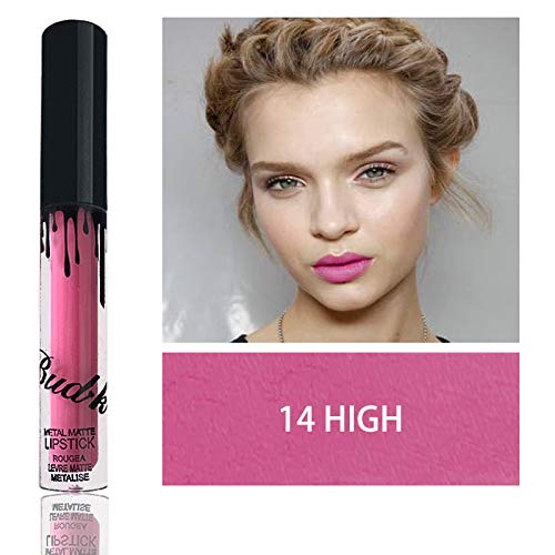 Brand Liquid Matte Lipstick And Lip Pencil Set Makeup Long Lasting Waterproof Matte Lip Gloss Lip Beauty Cosmetics Lip Kit BK 14 high by MEZHLZ