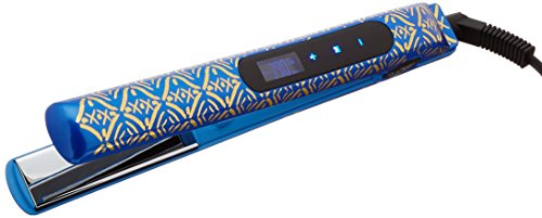 CHI Smart Gemz Volumizing Zironium Titanium Hairstyling Iron With Clips and Bag, Cobalt Blue Metallic by CHI (Image #1)