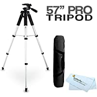 57 Camcorder Tripod w/ Carrying Case For Canon VIXIA HF R700, HF R72, HF R70, VIXIA HF R800 A KIT, HF R82, HF R80, VIXIA HF R62, VIXIA HF R60, VIXIA HF R600, HF G40, HF G30, HF G20 HD Camcorder
