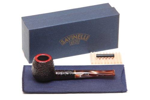 (Savinelli Roma Rustic 207 Lucite Stem Tobacco Pipe)