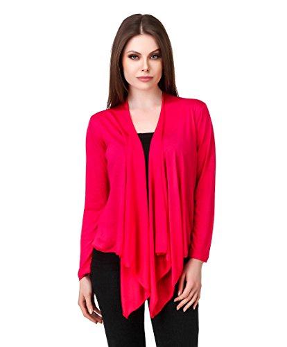 Komal trading co. Women #39;s Cotton Shrug  BLF01_Shrug_RPINK XL, Pink, X Large