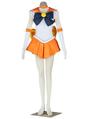Dazcos Sailor Moon Venus Minako Aino Costume (Women (Sailor Venus Costume)
