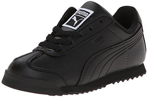 PUMA Roma Basic Kids Sneaker  , Black/Black, 9 M US Toddler
