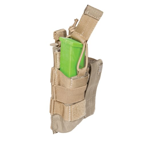 5.11 Pistol Bungee/Cover Double Magazine Pouch, Sandstone