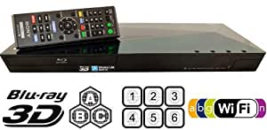 Sony BDP-S5100 Upgraded Multi Region 3D Blu Ray DVD Player, Worldwide Dual Voltage, 6 Feet HDMI Cable Included