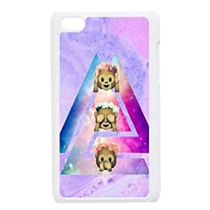 kimcase Custom monkey emoji Case Cover for iPod Touch 4