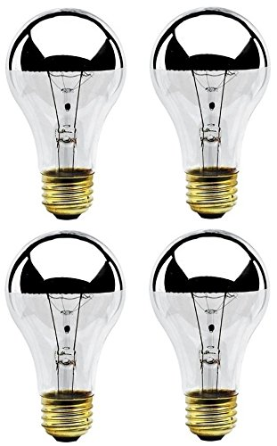 Bulbrite 60A19HM Half Chrome 60W A Shape Bulb (4 Pack)