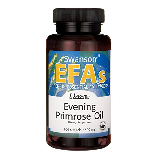 Swanson Evening Primrose Oil (Omegatru) 500 Milligrams 100 Sgels