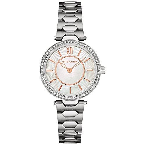 Wittnauer WN4019 Women's Stainless Steel Silver Bracelet Pearl Dial Watch (Watch Wittnauer Wrist Silver)