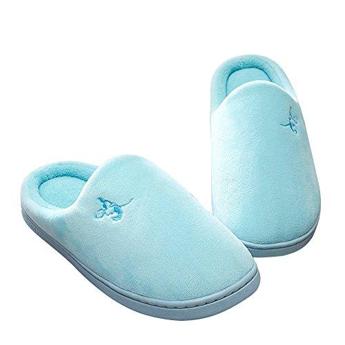 Mashcot Soft Indoor Inverno Moda Donna Casa Slipper Blu