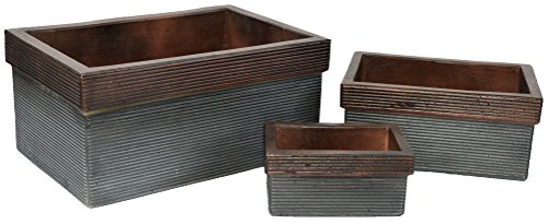 Rectangles Florence Tuscany Natural Cement Fiber Planter Set, Color: ()