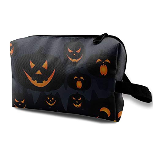 Cosmetic Bags Halloween Jack O Lantern Travel Makeup Multifunction Storage Portable Clutch Pouch Toiletries Organizer Bag]()