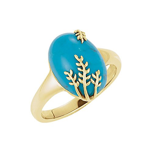 Design Ring in 14k Yellow Gold - Size 7 ()