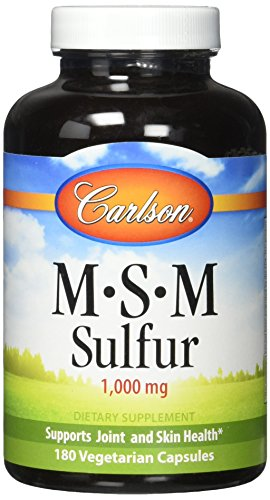 Carlson Labs Msm-Sulfur Capsules, 180 Count