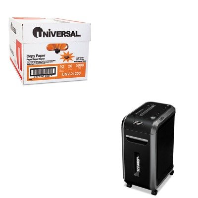 KITFEL4690001UNV21200 - Value Kit - Fellowes Powershred 90S Heavy-Duty Strip-Cut Shredder (FEL4690001) and Universal Copy Paper (UNV21200)