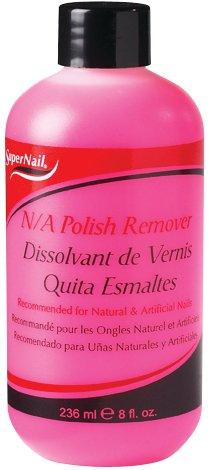 Super Nail 8oz Non-Abrasive Acetone Polish Remover for Natural & Artificial Nails, (Acetone Polish Remover)