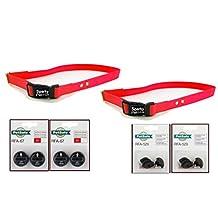 "Sparky PetCo Petsafe Compatible 2 - 3/4"" Neon Orange Dog Straps 2 PetSafe RFA 529 Kits & 4 RFA 67-D-11 Batteries 2 Dogs, Neon Orange"