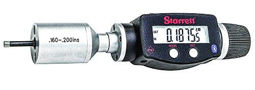 Starrett 770BXTZ-200 Electronic Digital Internal Bore Micrometer with Bluetooth, SPC Output, 0.160-.200